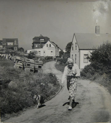 Monhegan Islander (Dorothy B. Vanderhill and her dog, Sally)
