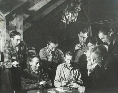 Card Game inside a Logger's Camp