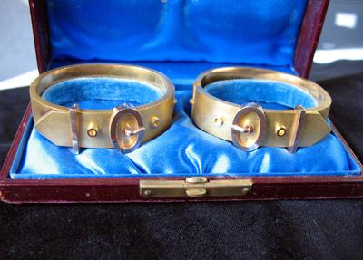 Gold Bracelet in Shape of Belt