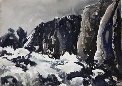 Untitled (Cliffs and ocean)