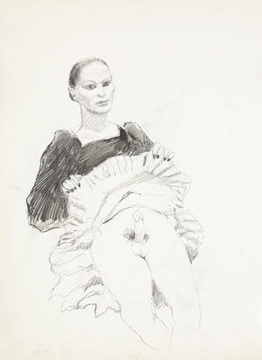 Sketchbook Comprised of Six Sketches: In Drag, Drawing No. 2