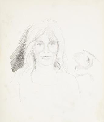 Sketchbook Comprised of Six Sketches: Portrait of K.K. Larkin, No. 1