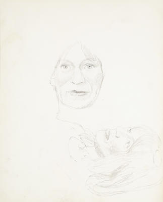 Sketchbook Comprised of Six Sketches: Portrait of K.K. Larkin, No. 2