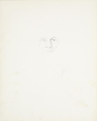 Sketchbook Comprised of Six Sketches: Portrait of K.K. Larkin, No. 3