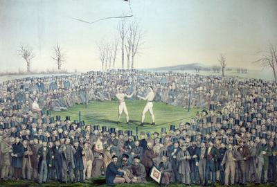 The International Contest Between Heenan and Sayers at Farnborough, England, on the 17th of April 1860