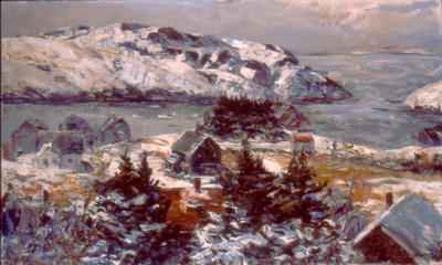 Monhegan Village in Winter
