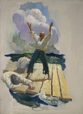 Three Men on a Raft