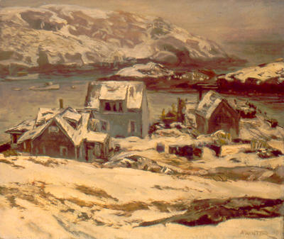 Monhegan Harbor in Winter