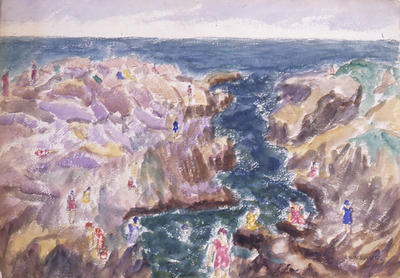 Bathers in a Rocky Cove