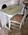 Small White Writing Table (Painted Floral Embellishment)