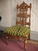 Black Walnut Renaissance Revival Hall Chair