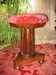 Rosewood Piano Stool with Red Velvet Seat