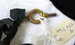 Gold Winding Key on Black Ribbon