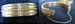 Woman's Gold Oval Cuff Bracelet