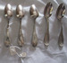 Set of Five Silver Olive Leaf Teaspoons