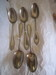 Set of Five Silver Tablespoons