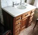 Marble Topped Sink Stand (Built-In)