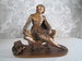 """Spelter Figure"" of Boy Reading"