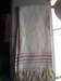 White with Red Stripes Huck Towel