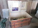 Wooden Flat Top Steamer Trunk with Interior Shelf, Drawer, and Pocket