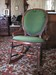 Rocking Chair with Green Corduroy
