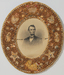Memorial to Abraham Lincoln in oval shell frame