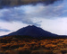 "Sunset behind Las Tres Virgenes Volcano, Near Mezquital, Baja, California, August 12, 1966 from ""In Wildness"" Portfolio"