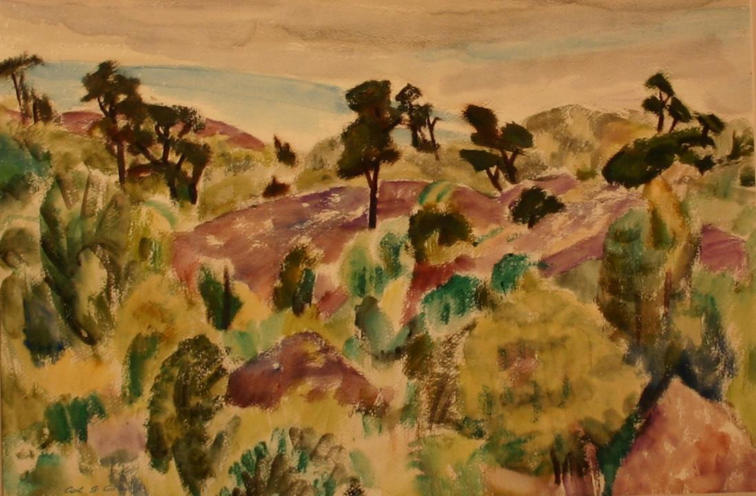 eca63b6e Caterpillar Ridge in Clouds - Farnsworth Art Museum